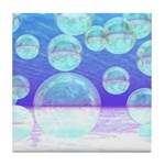 Frosty Clarity Abstract Tile Coaster