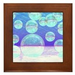 Frosty Clarity Abstract Framed Tile