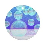 Frosty Clarity Abstract Ornament (Round)