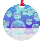 Frosty Clarity Abstract Round Ornament
