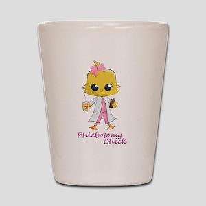 Phlebotomy Chick Shot Glass