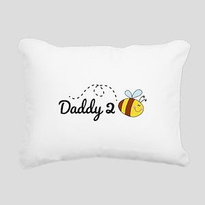 Daddy 2 Bee Rectangular Canvas Pillow
