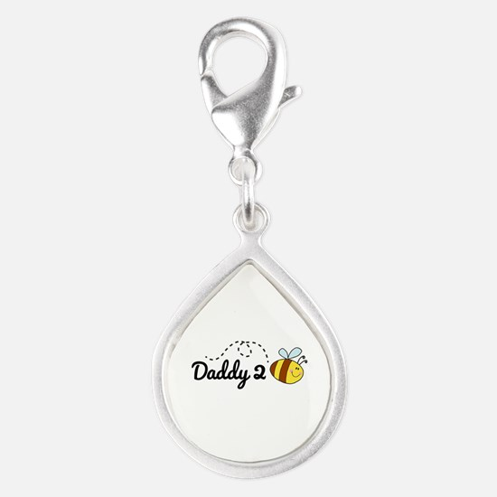 Daddy 2 Bee Silver Teardrop Charm