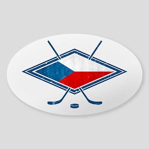 Czech Ice Hockey Flag Sticker