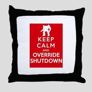 Mechwarrior Shutdown Throw Pillow