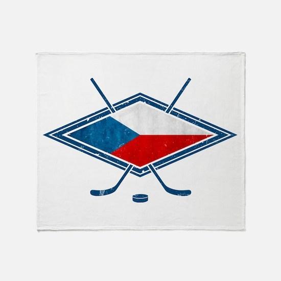 Czech Ice Hockey Flag Throw Blanket