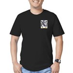 Brown Men's Fitted T-Shirt (dark)