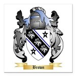 Brown Square Car Magnet 3