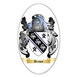 Brown Sticker (Oval 50 pk)