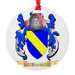 Broune Round Ornament