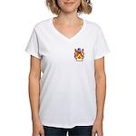 Broun Women's V-Neck T-Shirt