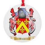 Broun Round Ornament