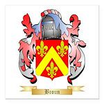 Broun Square Car Magnet 3