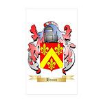 Broun Sticker (Rectangle 50 pk)