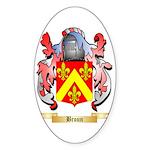 Broun Sticker (Oval 50 pk)