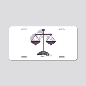 Starlight Libra Aluminum License Plate
