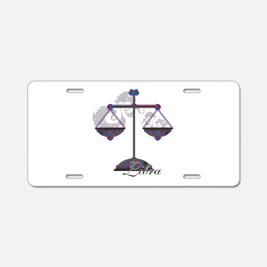 Starlight Libra Aluminum License Plate