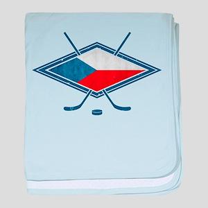 Czech Ice Hockey Flag baby blanket