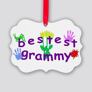 Bestest Grammy Picture Ornament