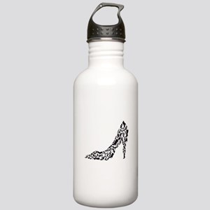 black heart with shoe silhouettes Water Bottle