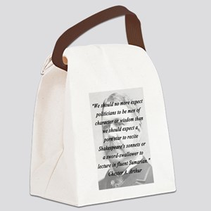 Arthur - Politicians Canvas Lunch Bag
