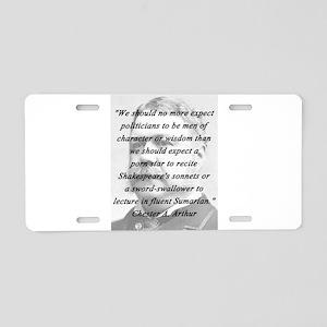 Arthur - Politicians Aluminum License Plate
