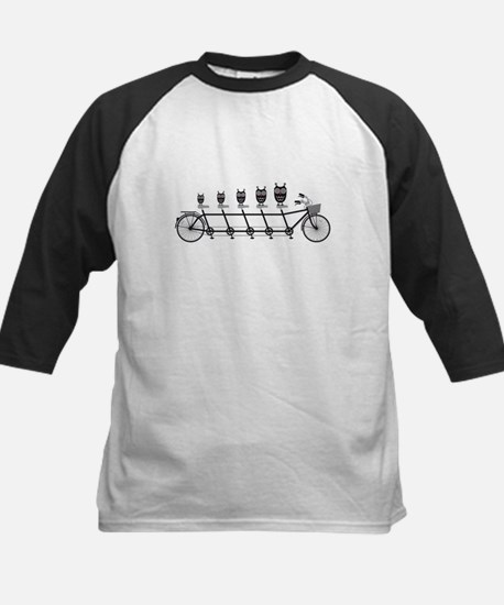cute owls on tandem bicycle Baseball Jersey