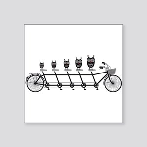cute owls on tandem bicycle Sticker