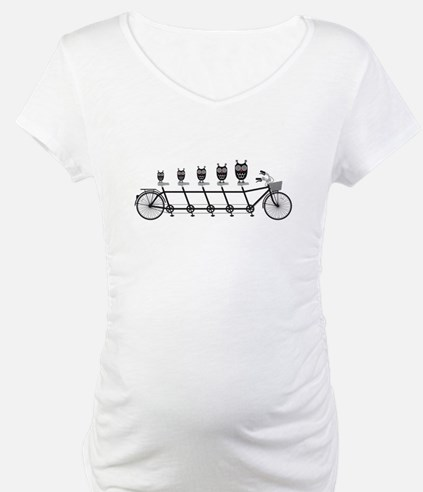cute owls on tandem bicycle Shirt