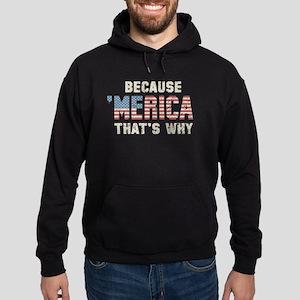 Because 'Merica Vintage Hoodie (dark)