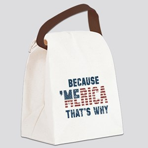Because 'Merica Vintage Canvas Lunch Bag