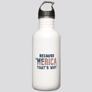 Because 'Merica Vintage Stainless Water Bottle 1.0
