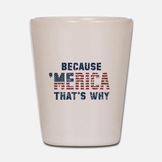 Because 'Merica Vintage Shot Glass