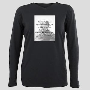 Cleveland - High Principle Plus Size Long Sleeve T