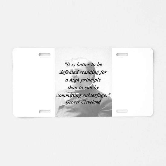Cleveland - High Principle Aluminum License Plate