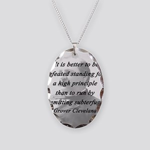 Cleveland - High Principle Necklace Oval Charm