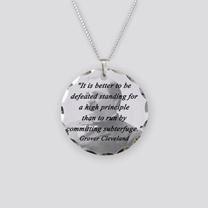 Cleveland - High Principle Necklace Circle Charm