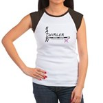 Women's Cap Sleeve T-Shirt with Baton Connected