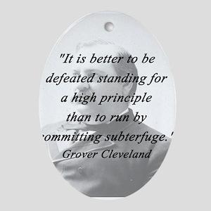 Cleveland - High Principle Oval Ornament