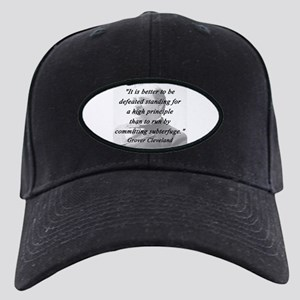 Cleveland - High Principle Black Cap with Patch