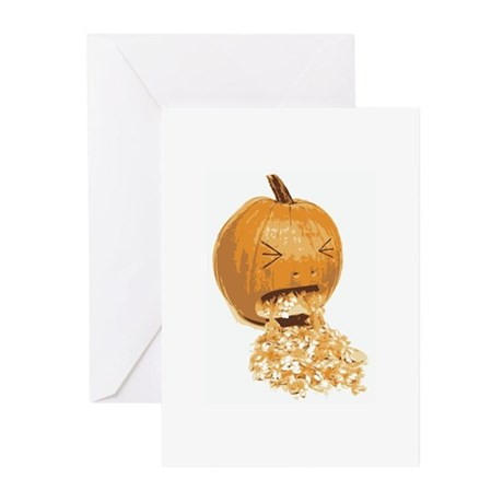 Too Much Halloween Candy Greeting Cards (Package o