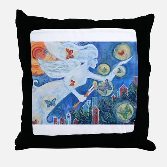 """""""The Angel of Hope"""" by Studio OTB Throw Pillow"""