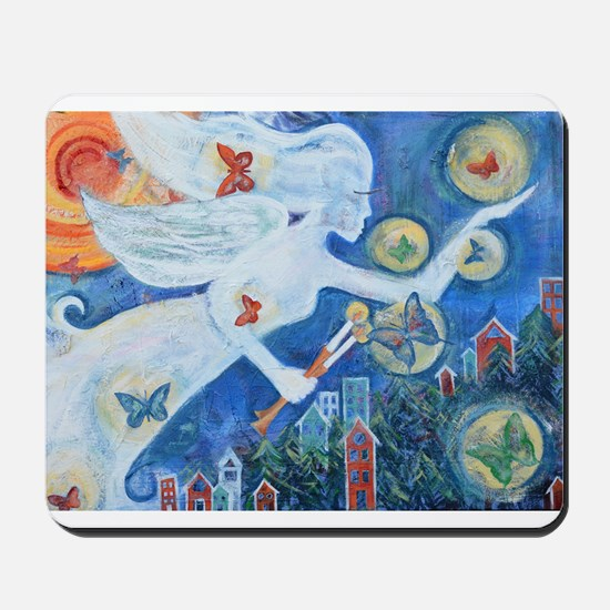 """The Angel of Hope"" by Studio OTB Mousepad"
