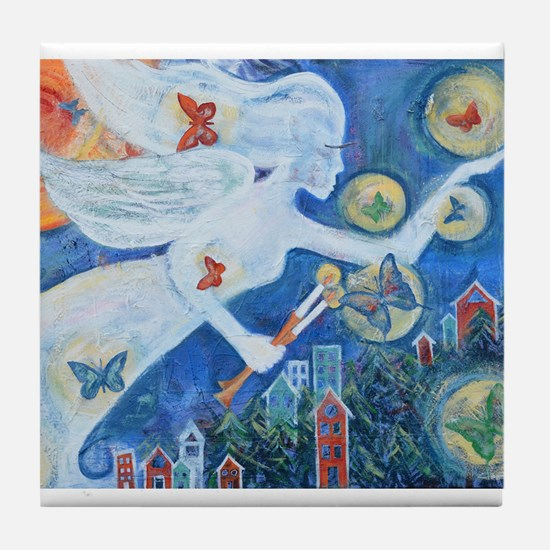 """""""The Angel of Hope"""" by Studio OTB Tile Coaster"""
