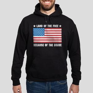 Land of the Free Flag Hoodie (dark)