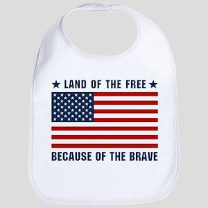 Land of the Free Flag Bib