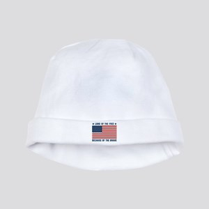 Land of the Free Flag baby hat