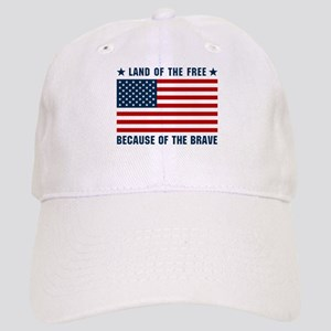 Land of the Free Flag Cap