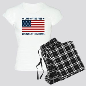 Land of the Free Flag Women's Light Pajamas