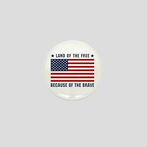 Land of the Free Flag Mini Button